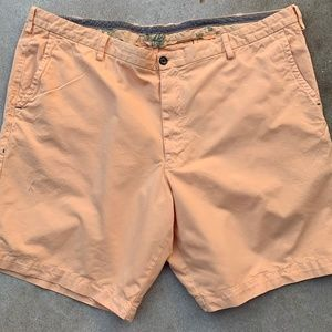 mens TOMMY BAHAMA Flat Front Shorts 48R Orange